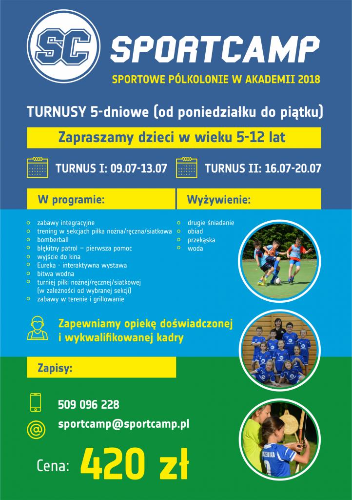 Akademia SportCamp organizuje półkolonie letnie dla dzieci w wieku 5-12 lat